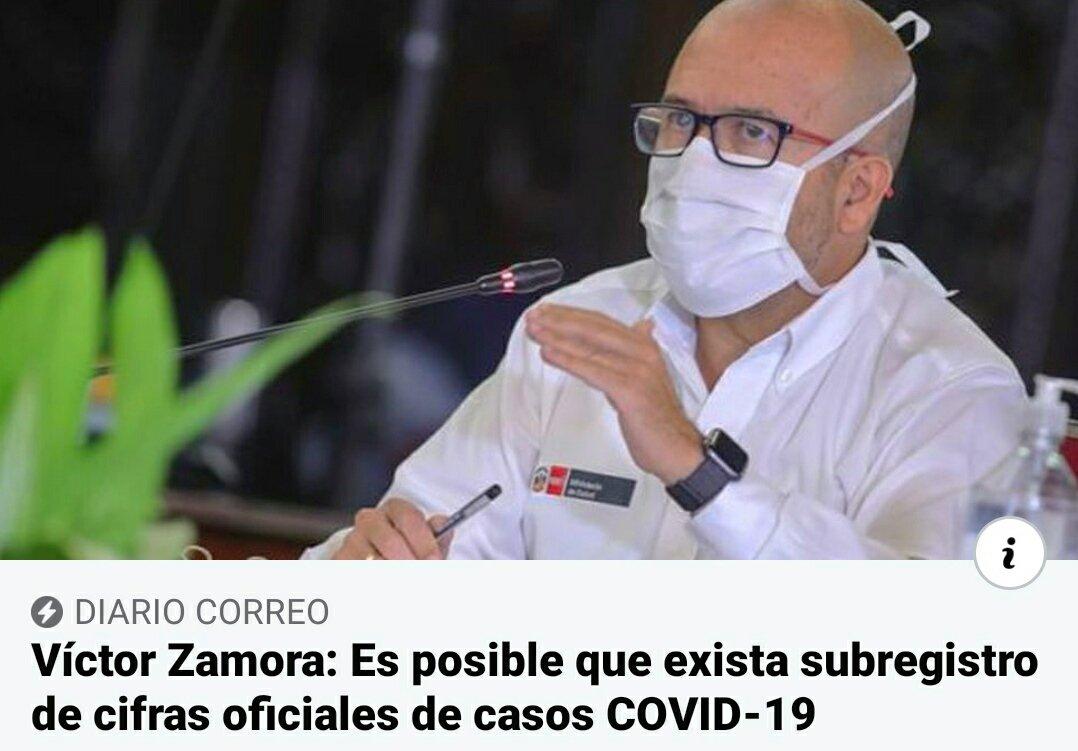 @victorzamora admitie q es posible haya un #subregistro de cifras de los casos #COVID en Perú, como ocurre en escenarios de emergencia y que no hay intención del Ejecutivo de ocultarlo.   Osea ¿no quiero ocultar pero es posible que ocultemos info?  ¿Este sujeto nos toma el pelo? https://t.co/DJh5iXS2wD
