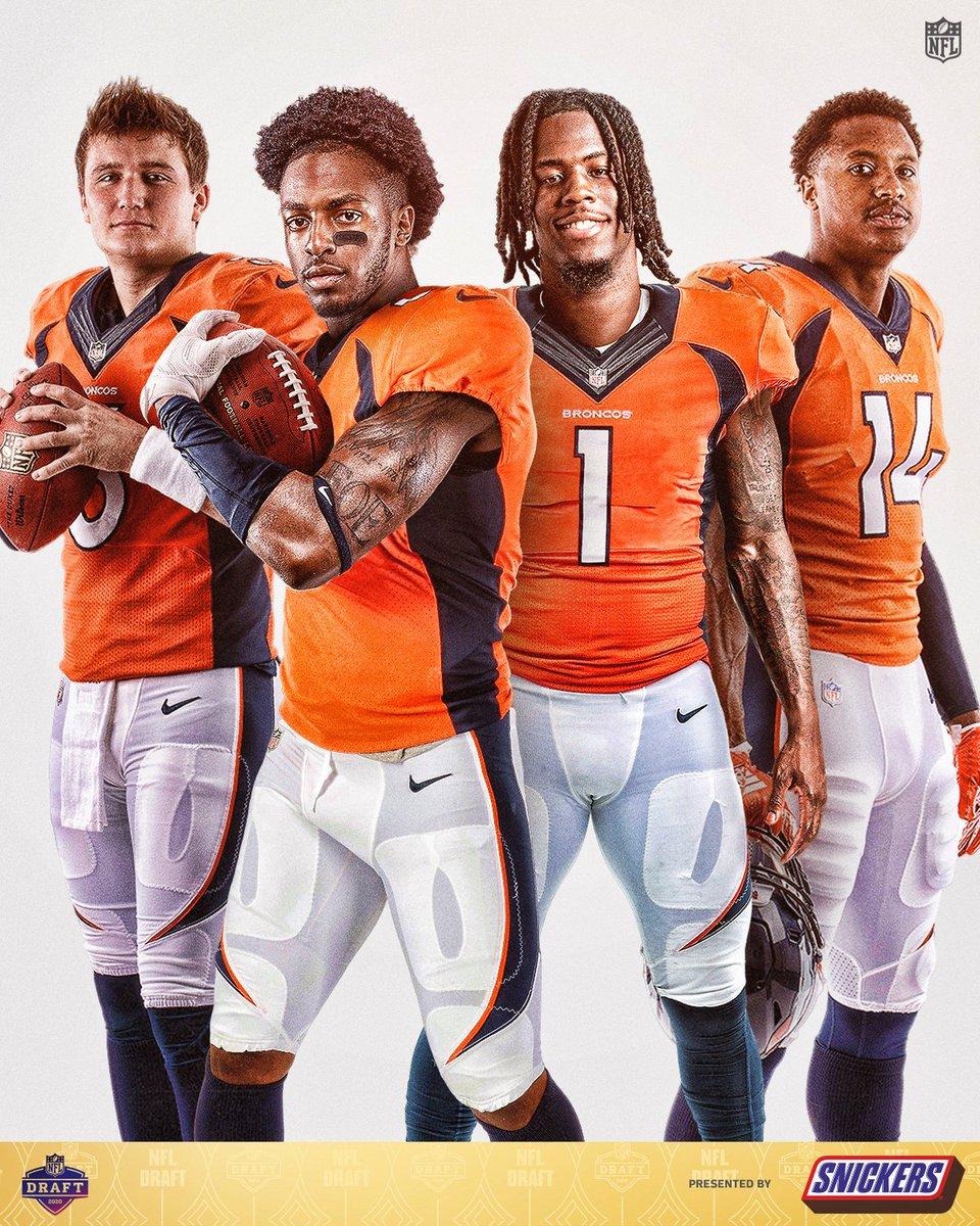 .@DrewLock23. @Kj_hamler. @jerryjeudy. @SuttonCourtland.  The @Broncos got some playmakers. 💪 #NFLDraft (by @SNICKERS) https://t.co/JW96qZ2vqA