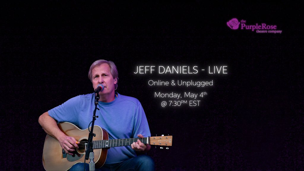 Many thanks to all who tuned in to our maiden voyage last night. Online & Unplugged #2 is next Monday, 730p EST at the Purple Rose Theatre Company YouTube Channel. See ya then.