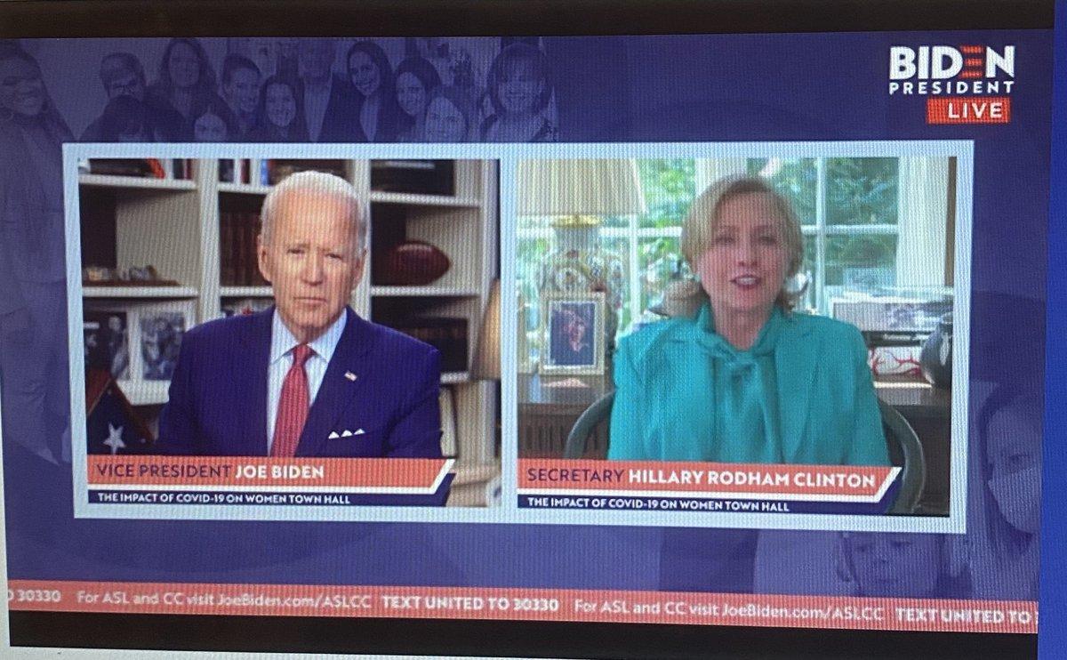 .@HillaryClinton joins @JoeBiden to offer her endorsement, calling him a colleague and a friend.