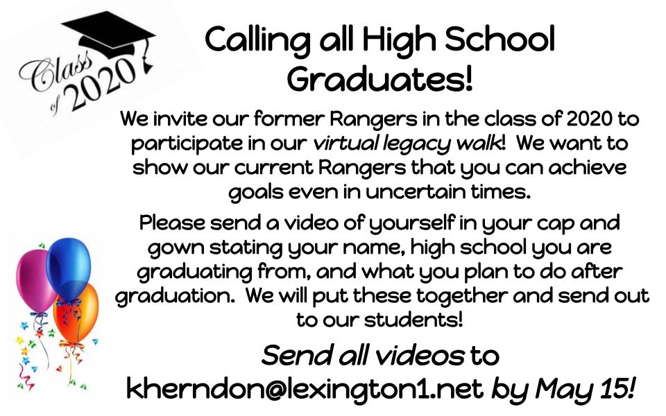Calling all HIGH SCHOOL SENIORS for our VIRTUAL LEGACY WALK! Please help spread the word in our community! https://t.co/zYQCRgyDfs