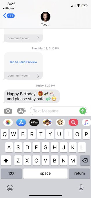 Tony Hawk texted me happy birthday nothing else matters today is the best day of my life