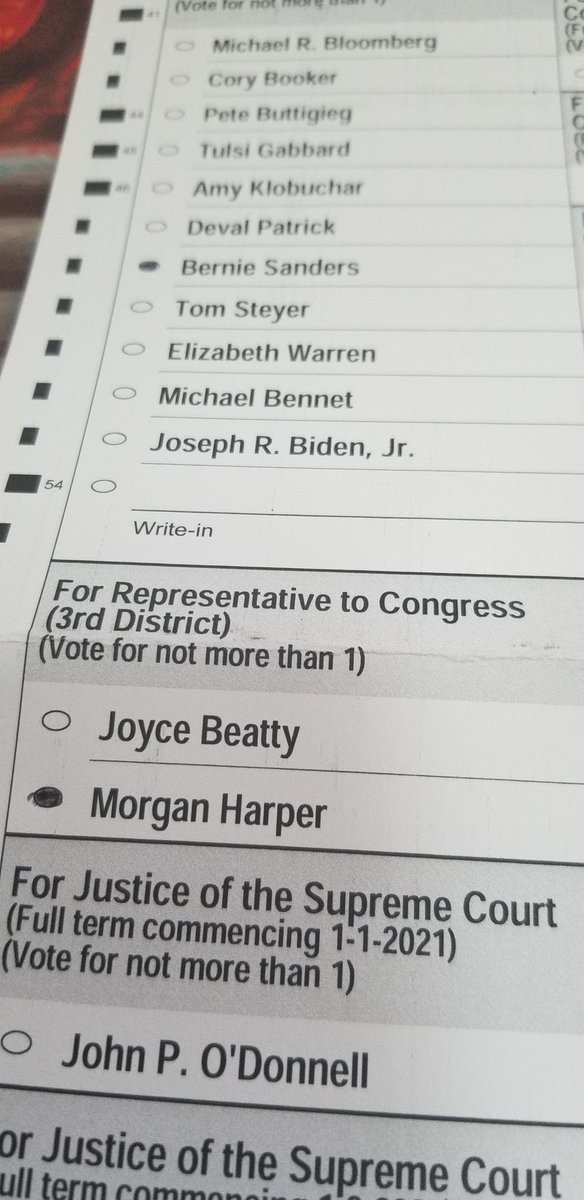Just dropped off my ballot and voted for @BernieSanders and @mh4oh #2020primaries