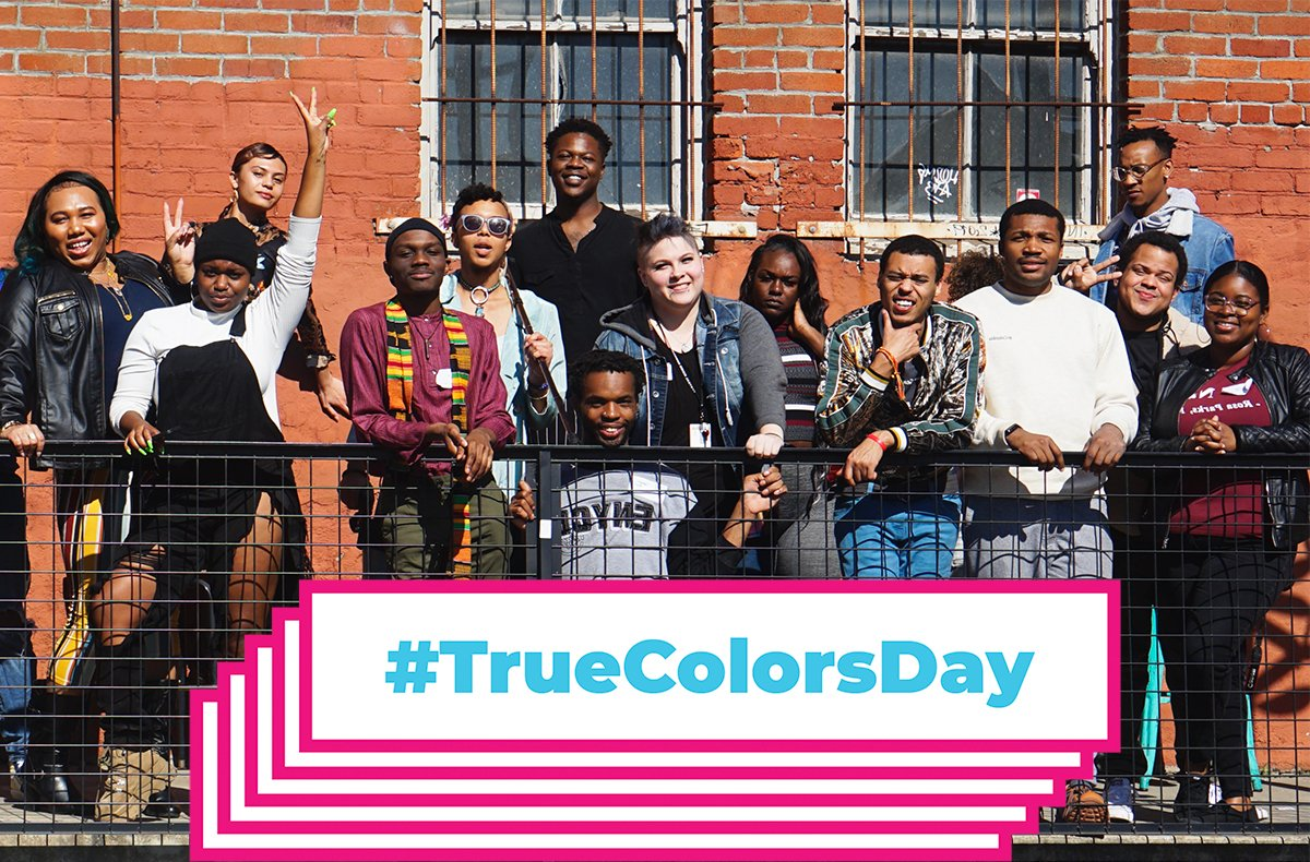 📣Today is #TrueColorsDay 📣  We're taking action to defend the health and civil rights of #LGBTQ youth experiencing homelessness.  Spread the word to show #LGBTQyouth they're not alone👇🏿 Visit https://t.co/YiyGe5nb5O  #EndYouthHomelessness #COVID19  #LGBTQuarantine https://t.co/Hj6w59vgKR