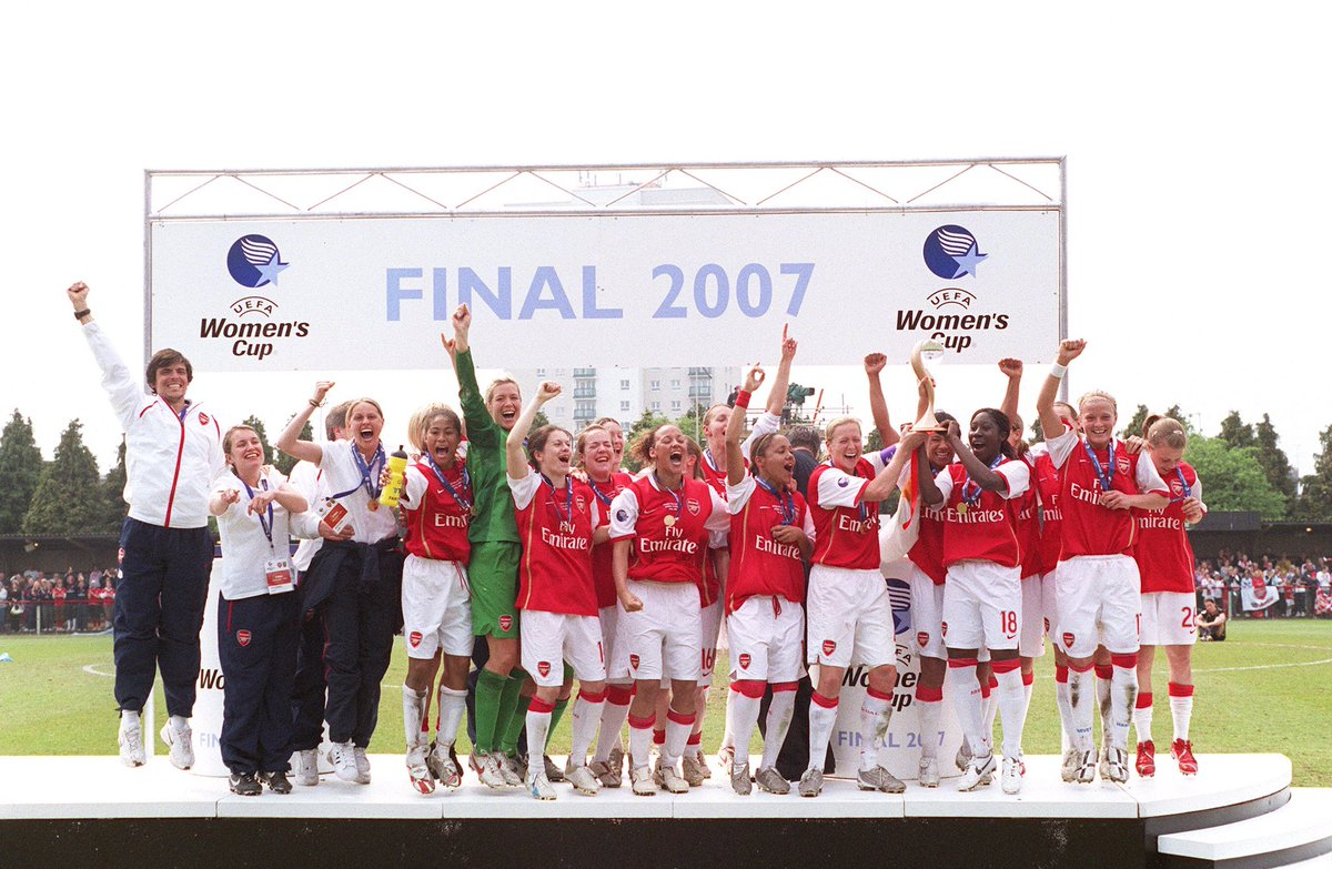 #otd 2007 @ArsenalWFC win the Champions League with a 1-0 aggregate win over Umea. https://t.co/7fic9Q3NQ1