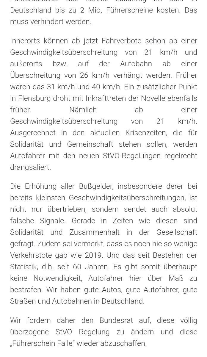 petition führerschein falle