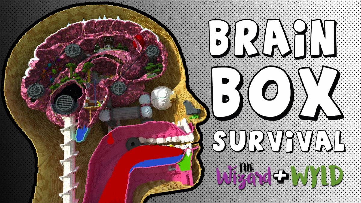 Brain-Box, an ant farm survival in a giant human head! available in the Minecraft marketplace. minecraft.net/en-us/pdp?id=a… by @WizardandWyld
