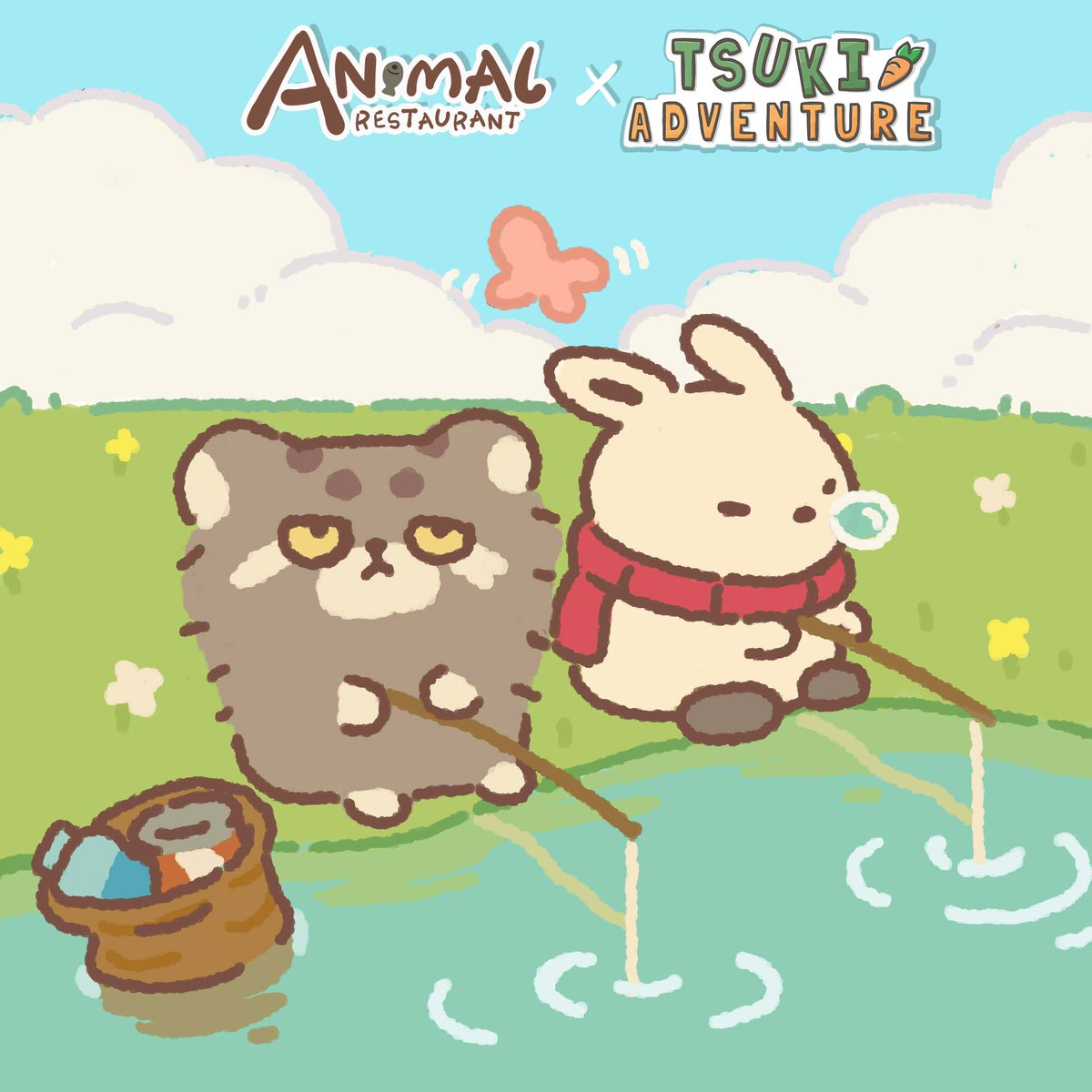 Animal Restaurant On Twitter They Are Both Good At Fishing And You Pick Which One Rabbit Ding Or Tsuki Animal Restaurant Animalrestaurant Tsuki Tsukiadventure Rabbitding Fishing Catsoftwitter Https T Co Larplfiblx