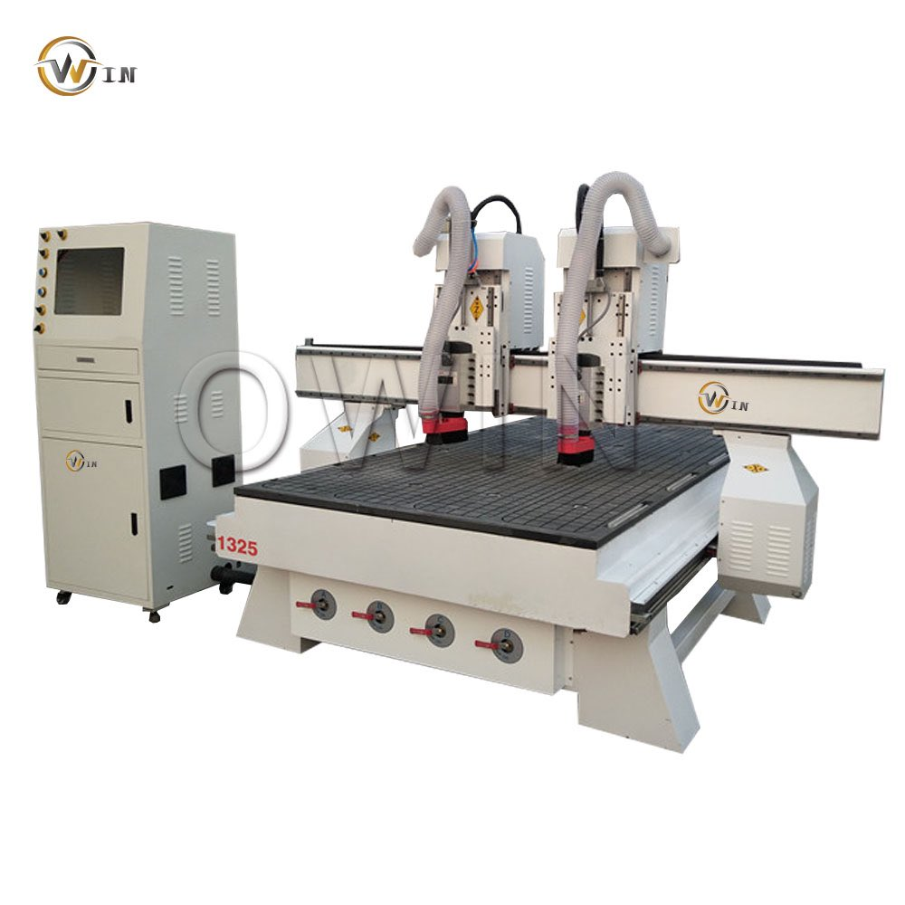 heavy duty independent two heads #cncrouter  with vacuum table,air cooling spindles best price in promoting  #cncrouter #cnc1325 #twoheadscnc whatsapp:0086-13256669396 https://t.co/ikHRNfVCn0