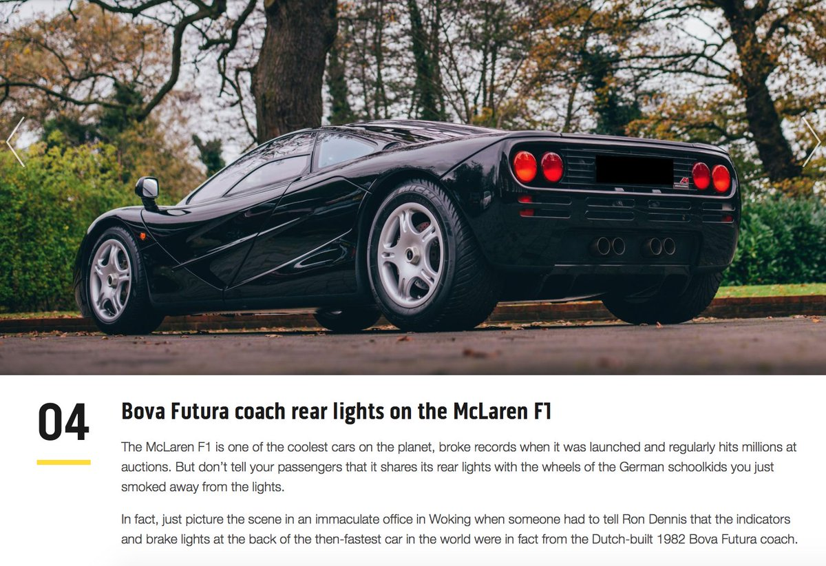 Sniff Petrol On Twitter Also The Mclaren F1 S Rear Lights Are Off The Shelf Units Made By Cobo They Just Happen To Have Been Used On A Bova Coach And On The Lamborghini Diablo