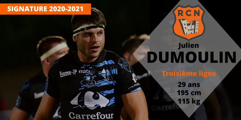 C'est officiel, Julien DUMOULIN s'engage avec le Racing pour la saison 2020/2021...