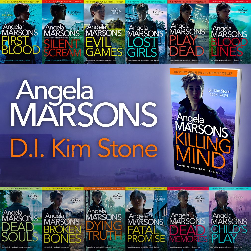 """bookouture on Twitter: """"We're SUPER EXCITED to share these stunning new  covers for the DI Kim Stone series by @WriteAngie with you. TADAH!  Pre-order Book 12 KILLING MIND now! AMZ: https://t.co/wRiq1iIR3x Apple:"""