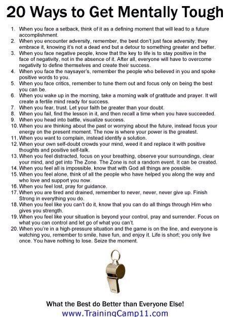 Replying to @JonGordon11: 20 Ways to Get Mentally Tough