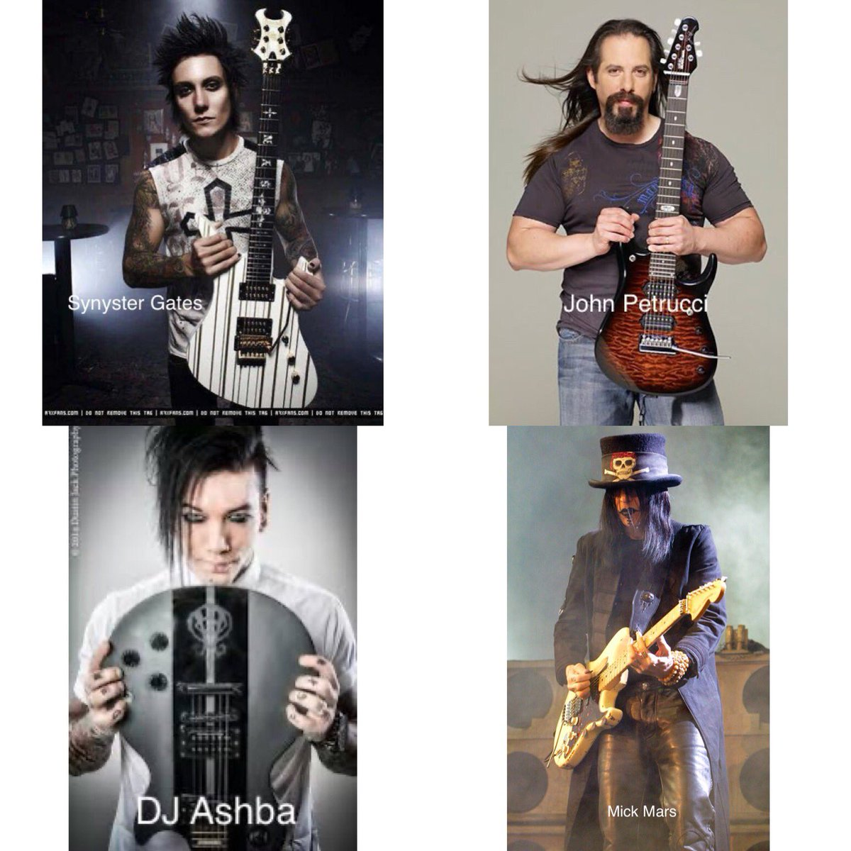 #GuitarWars ! Which #guitarist is your fave? #DJAshba - #JohnPetrucci - #SynysterGates - #MickMars ? Who do U think is best vs who do U like most? #guitarist #guitar #rocknroll #rockstar #poll #rockband #avengedsevenfold #dreamtheater #sixxam #motleycrue #guitarplayer #inspirepic.twitter.com/acg8XyOPI3