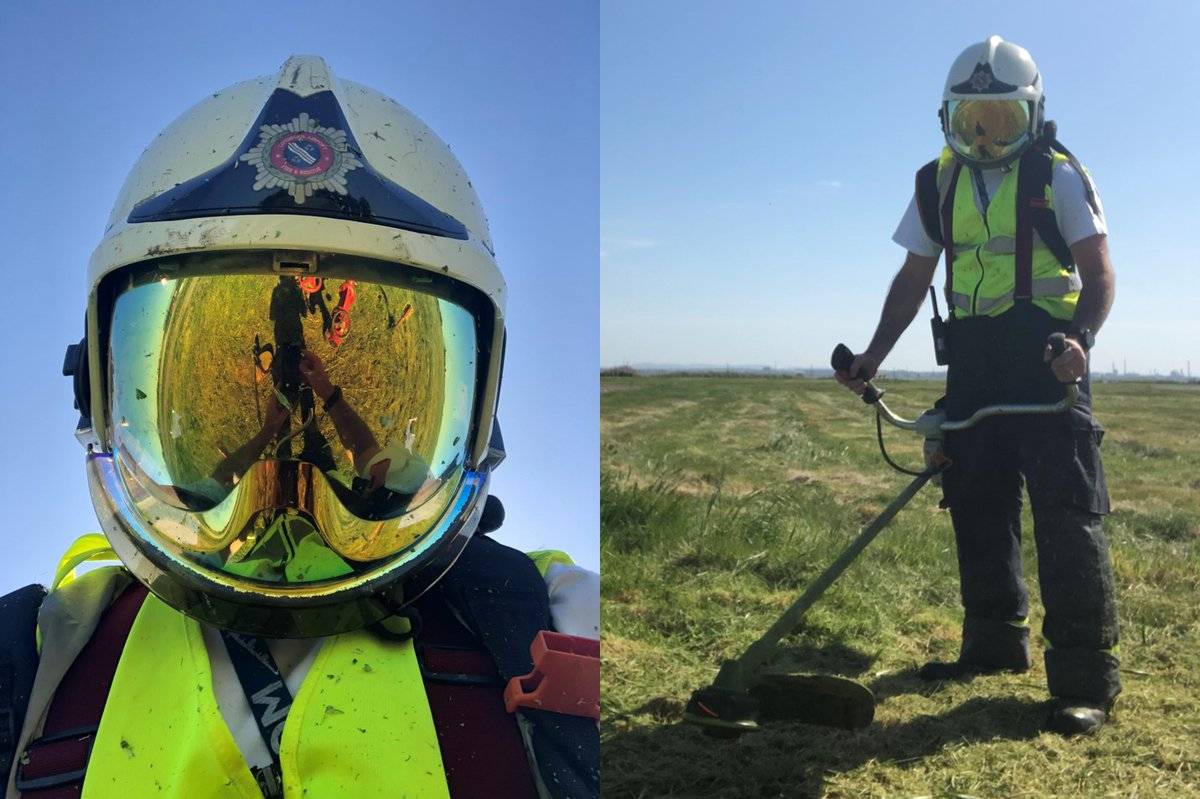 Preparations continue to ensure the Airport is ready for the return of flights soon. The recent good weather meant the Airport's Rescue and Fire Fighting Service could maintain areas around fire hydrants located across the airfield, during this quieter period https://t.co/4K0EAMitUw
