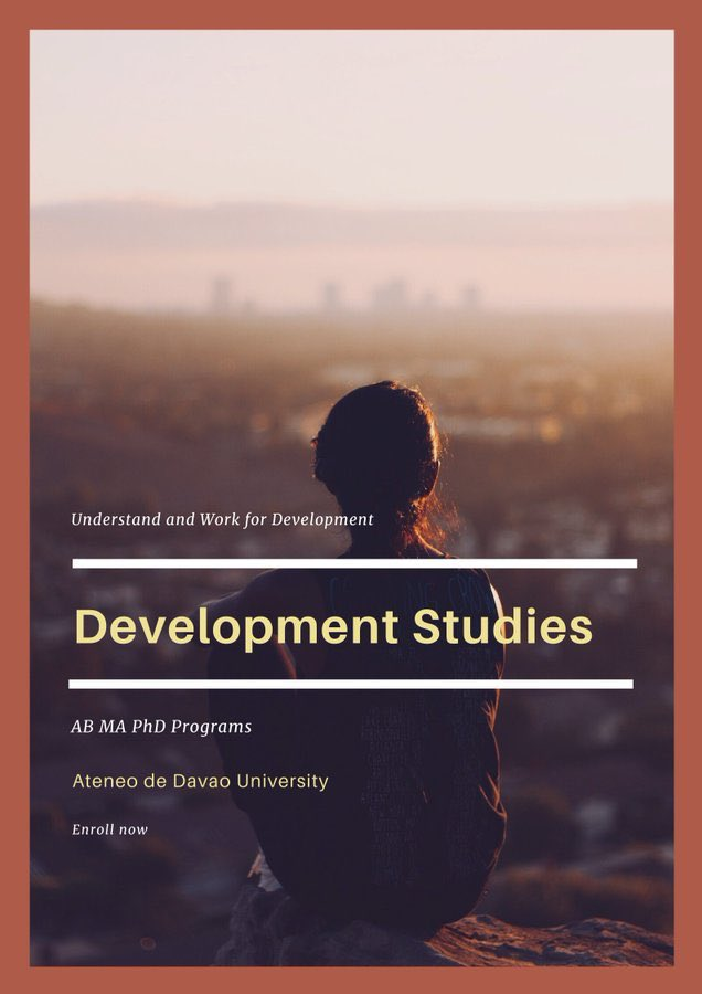 Understand and Work for DEVELOPMENT through Ateneo de Davao University 📸: @SoEJSabado