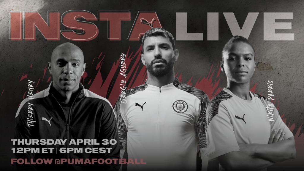 The IG Live we all deserved, ft. @ThierryHenry, @aguerosergiokun & @lilkeets.  Tomorrow, on PUMAFootball IG.