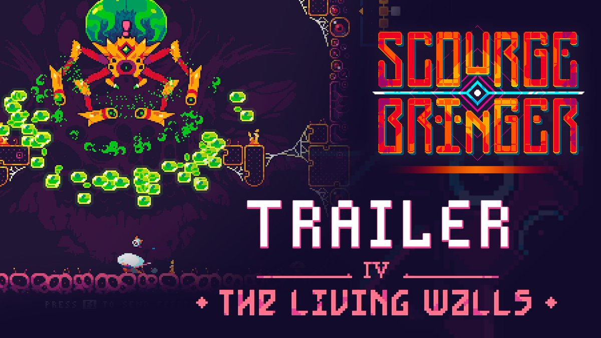 #ScourgeBringer, the thrilling roguelite from @FlyingOakGames is getting bigger today! A fourth world, the Living Walls, has joined the Monolith; in this strange place, you may run, but you can't hide!  More info on the update here: https://t.co/bUQLsxsafp https://t.co/bhL8Ctxbex