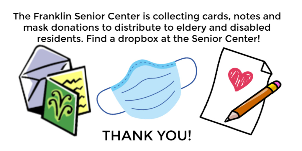 Senior Center is collecting cards, notes and protective masks