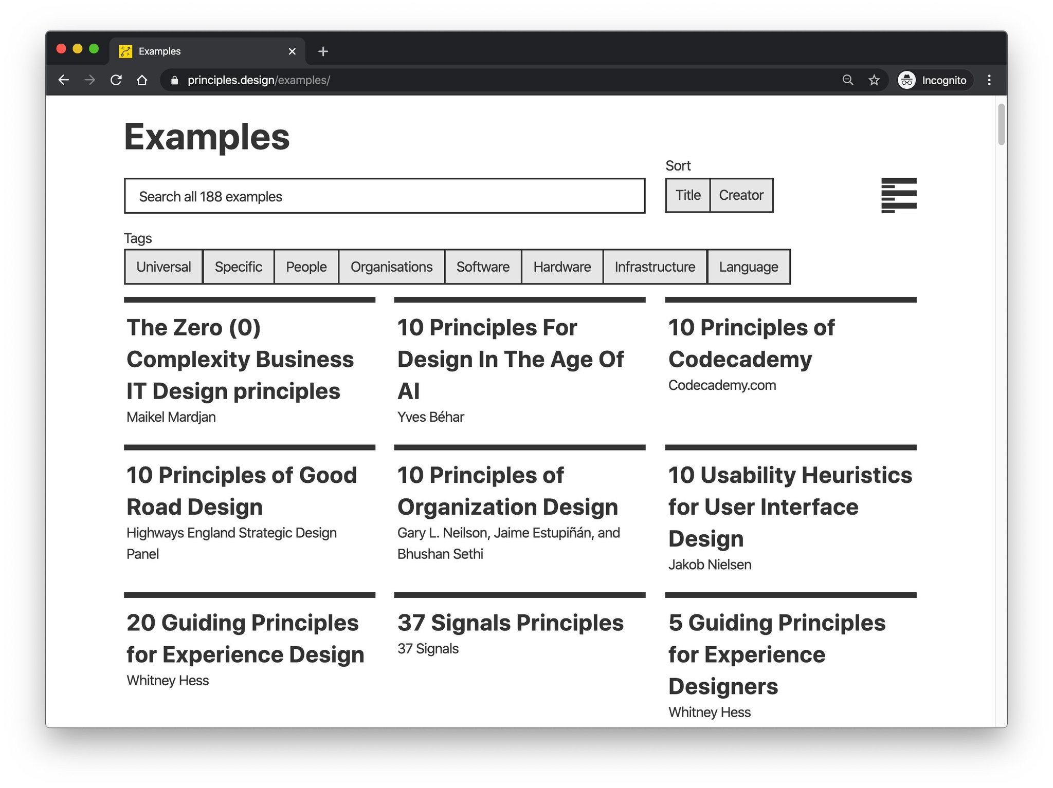 Umar Hansa On Twitter Design Principles Https T Co Yianeacmwi An Excellent Collection Of Design Principles And Methods Laid Out Clearly In An Easy To Use Website Will Defo Be Referring Back To These
