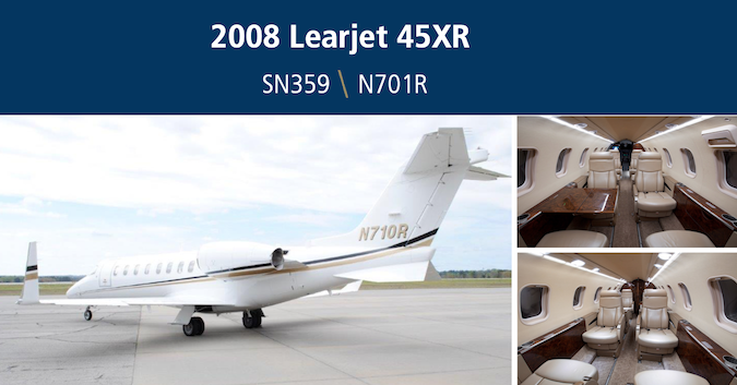 This exceptional 2008 Lear 45XR is currently available for lease or sale by Global Jet Capital. The aircraft features 9 passenger configuration, WAAS/LPV and ADS-B Out upgrades, beautiful interior, and more. View details: hubs.ly/H0pVVv80. #bizav #aviation #learjet