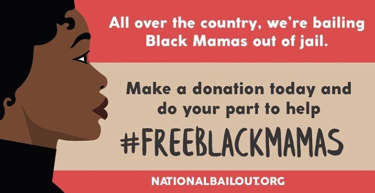 Thank you so much to everyone who has already donated to #FreeBlackMamas! We're trying to meet our fundraising goal by the end of the week - click here to help: https://t.co/haOo5achbP https://t.co/l3Vouy9N7o