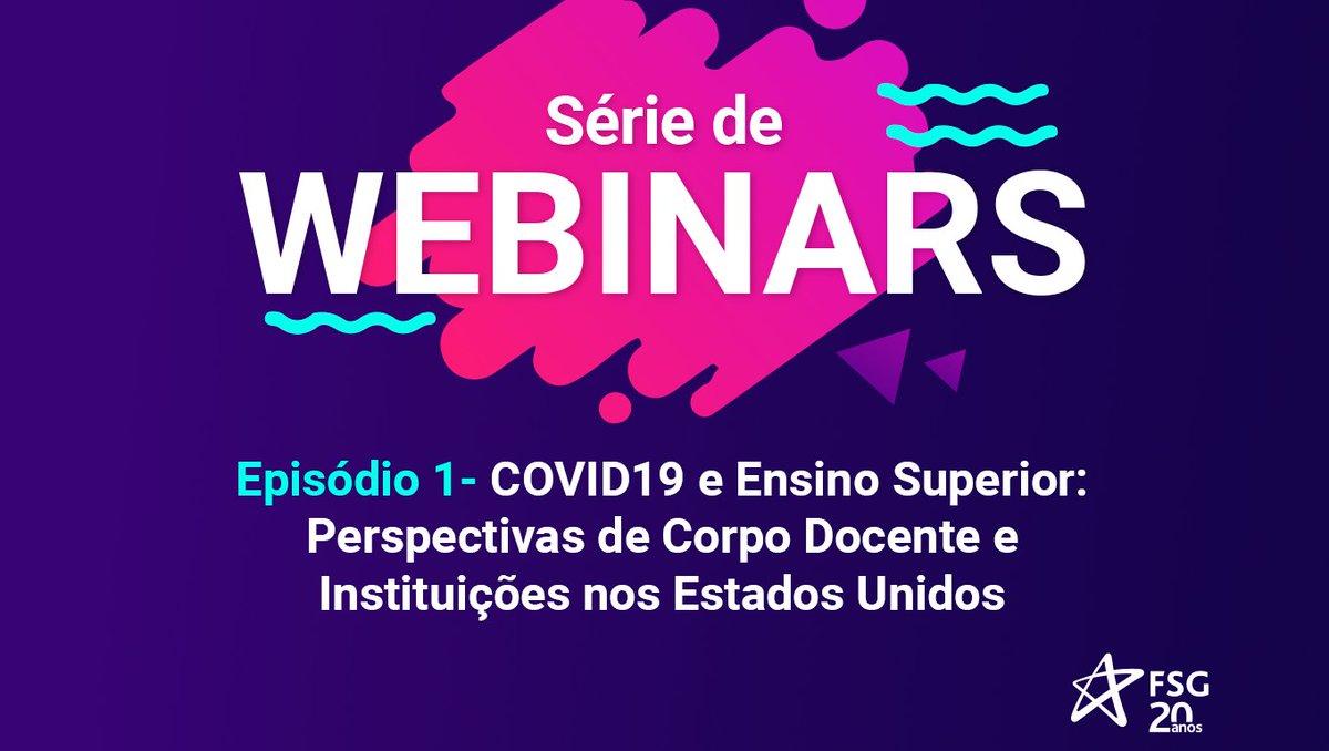 """Temos um convite para você! 😉 A Cruzeiro do Sul Virtual vai realizar amanhã, dia 30 de abril, às 15h, o webinar """"Covid-19 e Ensino Superior: Perspectiva de corpo docente e Instituições nos Estados Unidos"""". Fique por dentro de tudo. Acesse: https://t.co/mCmViqHevJ https://t.co/d23ItvYox7"""