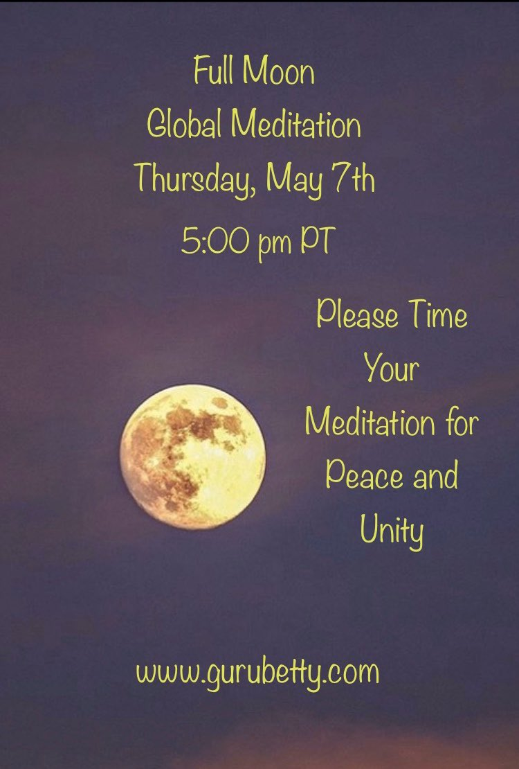 Please time your meditation at 5pm PT. No need to join by phone or computer. Just close your eyes.