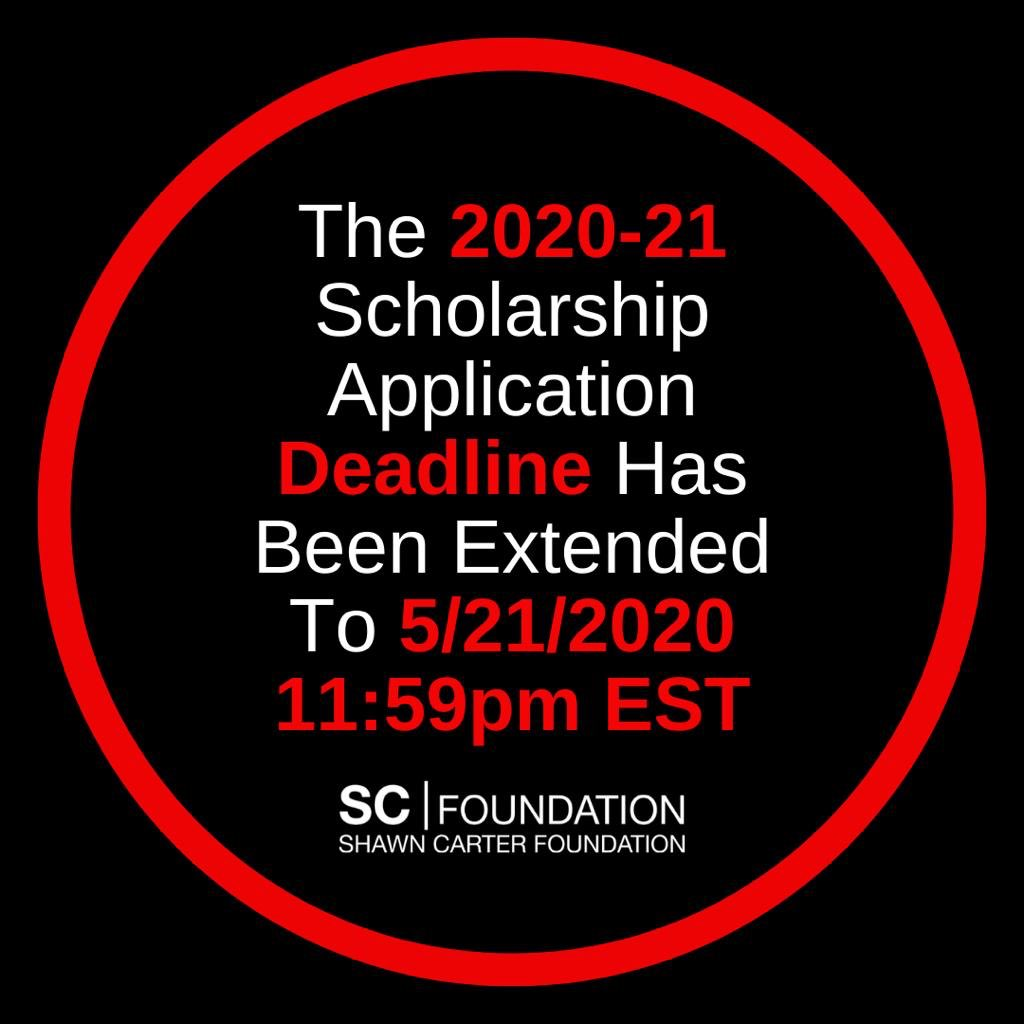 The 2020-21 scholarshipapplication deadline has been extended to May 21, 2020, 11:59pm EST. Visit https://t.co/FIOoKjMIAX. Click on Programs and Scholarship Fund to apply. https://t.co/P7EE5rAk7g