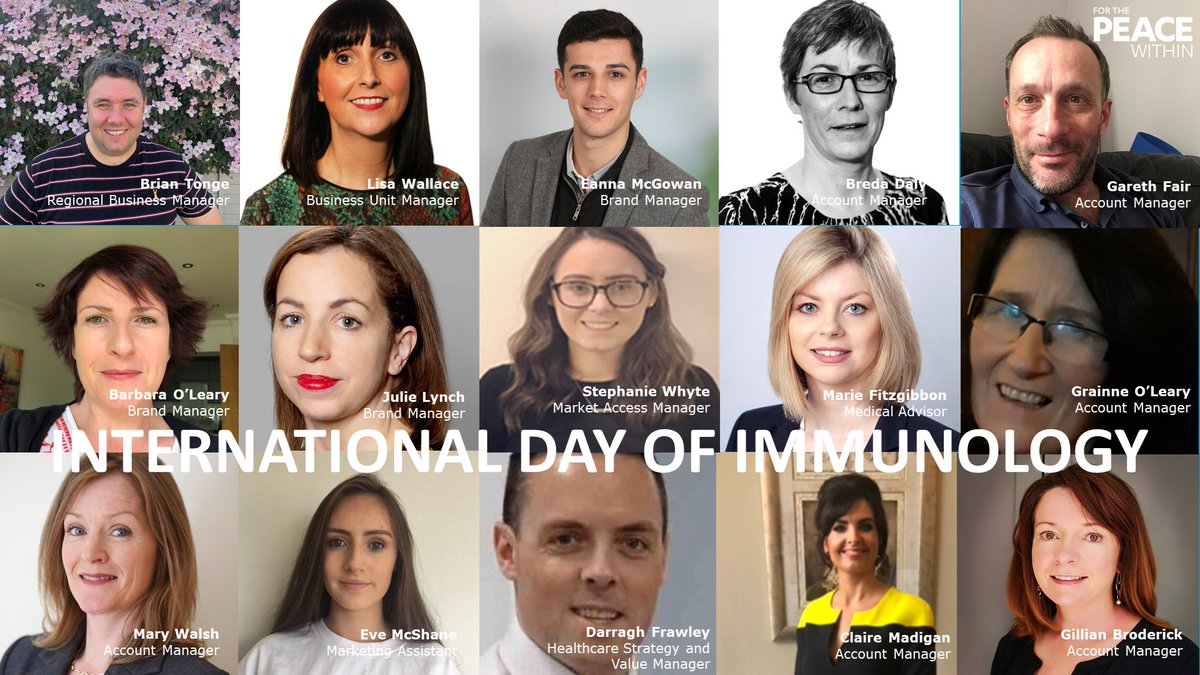 Our commitment to people in Ireland living with immune-mediated inflammatory diseases is now more important than ever. Today marks International Day of #Immunology, so please offer a hand to those who may be struggling. RT to show together we strive for #ThePEACEWithin #DoImmuno
