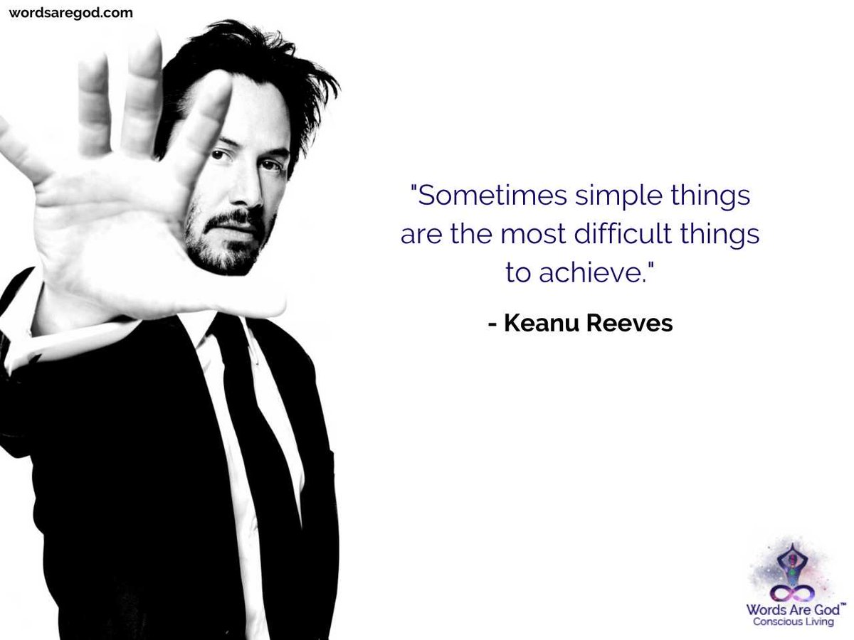 """Sometimes simple things are the most difficult things to achieve."" #keanureeves #keanureevesquotes #experience #motivationalquotes #inspirationalquotes #lifequotes #wordsaregodpic.twitter.com/cvXpD06hVy"