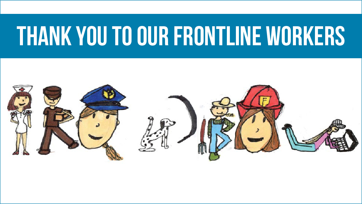 To celebrate #TakeYourKidToWorkDay, we challenged our youngest #WFH colleagues to redesign our logo and honor the front line workers keeping our communities safe during the COVID-19 pandemic. Check out the awesome submissions: https://t.co/4OYWpNhtz4 https://t.co/PFdOBHwgSx