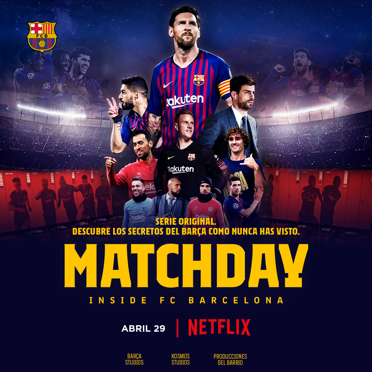 Netflix just launched 'Matchday: Inside FC Barcelona', a Kosmos Studios co-production, in Latin America and Canada.  The eight-part documentary series includes previously unseen footage of the first team's day-to-day lives.  More info➡️