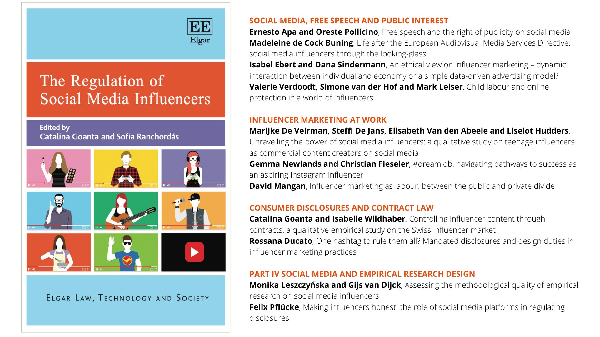 Catalina Goanta On Twitter Almost Out 1st Eu Comprehensive Law Comms Ethics Look At Social Media Influencers Edited With My Dear Friend Sranchordas With Exceptional Contributions On Disclosures Aspirational Work Research