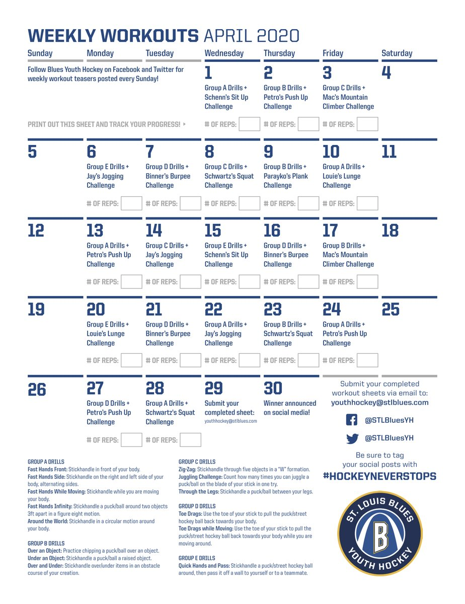 Don't forget to send in your completed #HockeyNeverStops worksheet today for your chance to win a Blues Prize Pack! Make sure you send your email to youthhockey@stlblues.com no later than 11:59pm! https://t.co/JXvFNSAGs3