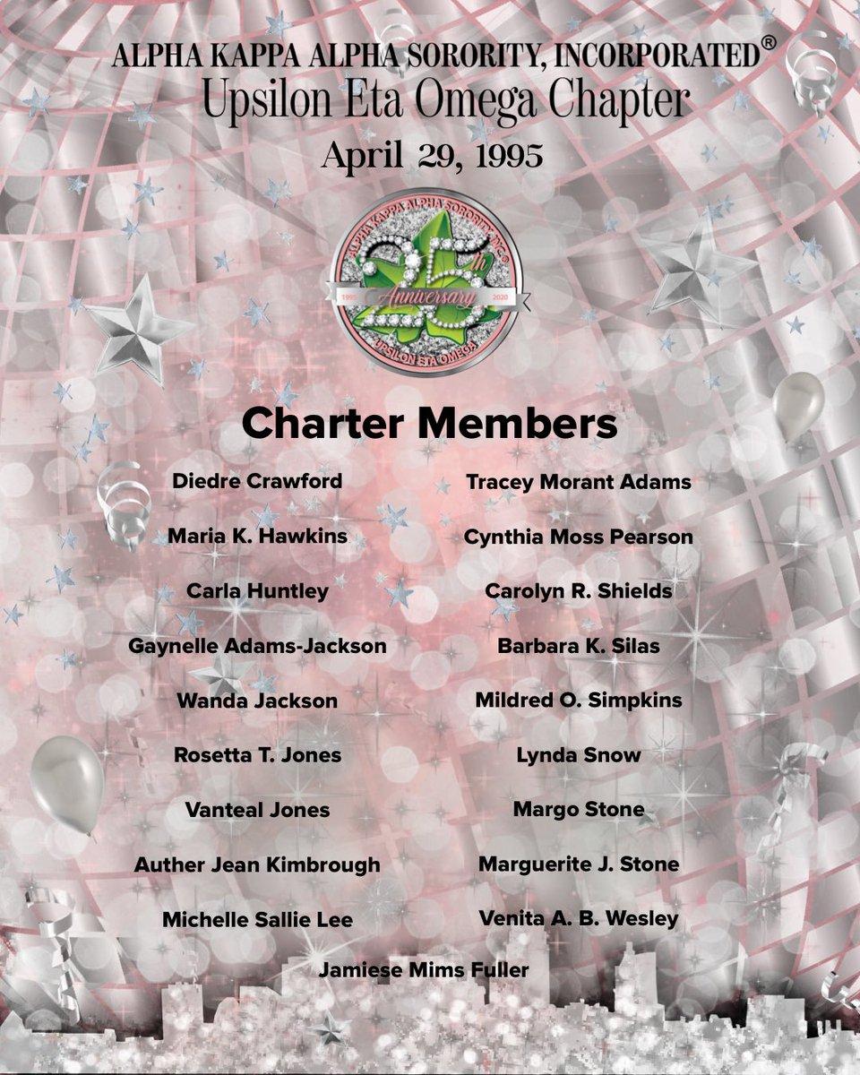 Happy Charter Day and 25th Anniversary UEO!  ⠀⠀⠀⠀⠀⠀⠀⠀⠀ - UEO Charter Members ⠀⠀⠀⠀⠀⠀⠀⠀⠀ #AKA1908 #AKASouthEastern #AKAUEO #AKAUpsilonEtaOmega #AKAUEOTurns25 @akasorority1908 @AKASouthEasternpic.twitter.com/qGoAe4V5Tb