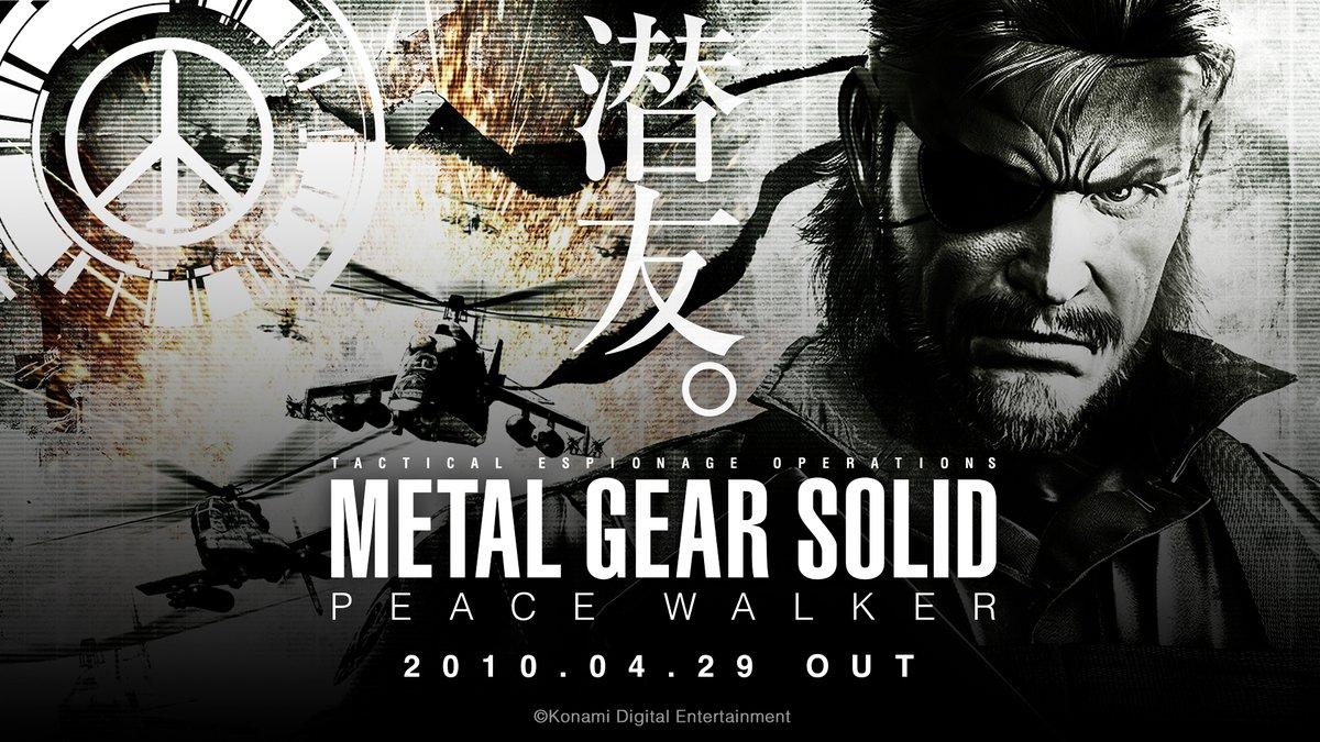 メタルギア公式 Metal Gear 画像が手に入ったので 改めてツイートします 今から10年前の昨日 10年4月29日に Metal Gear Solid Peace Walker が発売されました Mgspw