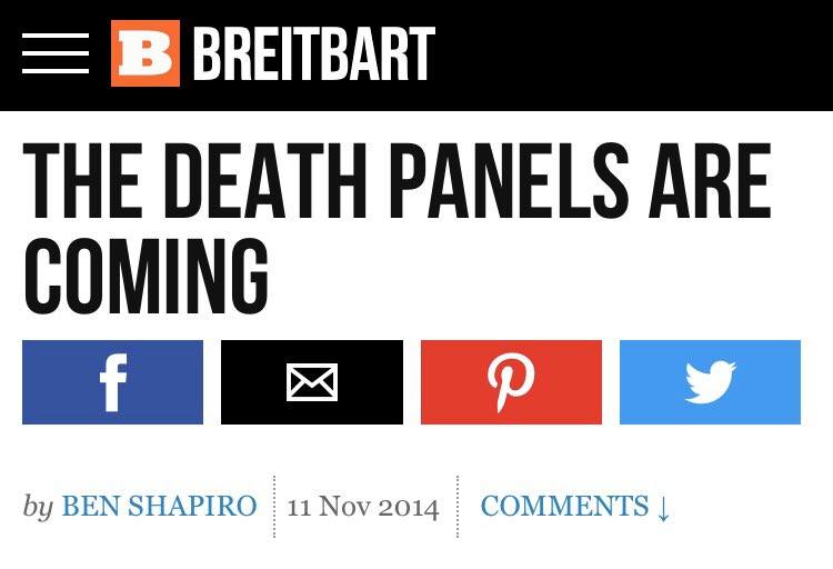 ben shapiro in 2014: the death panels are coming ben shapiro in 2020: ...and that's a good thing!