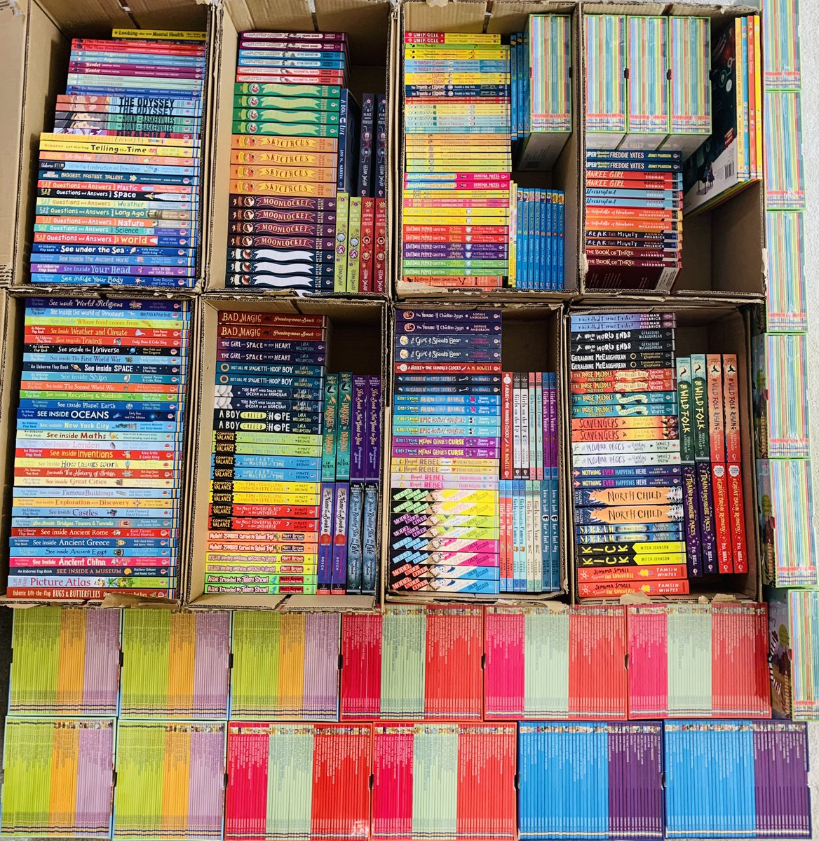 😍 Isn't this just beautiful? Such an array of fabulous fiction! Today I delivered £2,800 of books to @lindfieldpri and they didn't spend a penny! Let me know if you'd like me to help your school too. #libraryrefresh #100kbookgiveaway #tranformyourschoollibrary @UsborneBAH