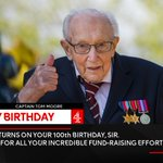 Image for the Tweet beginning: Happy 100th Birthday @captaintommoore. And