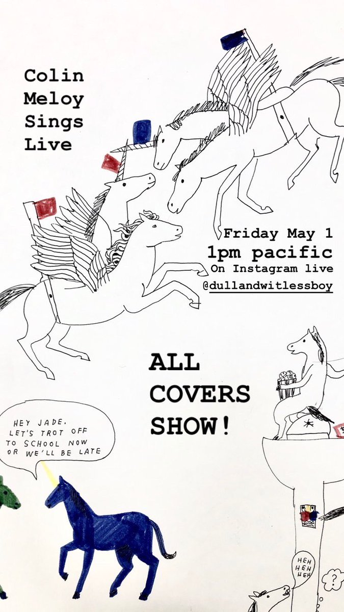 Happening Friday, the 1st of May, at 1 pm pacific — an all covers set by yrs truly over at https://t.co/MhIvSJSKsY. Swing on by, quaranteens! https://t.co/HpDNg59DSx