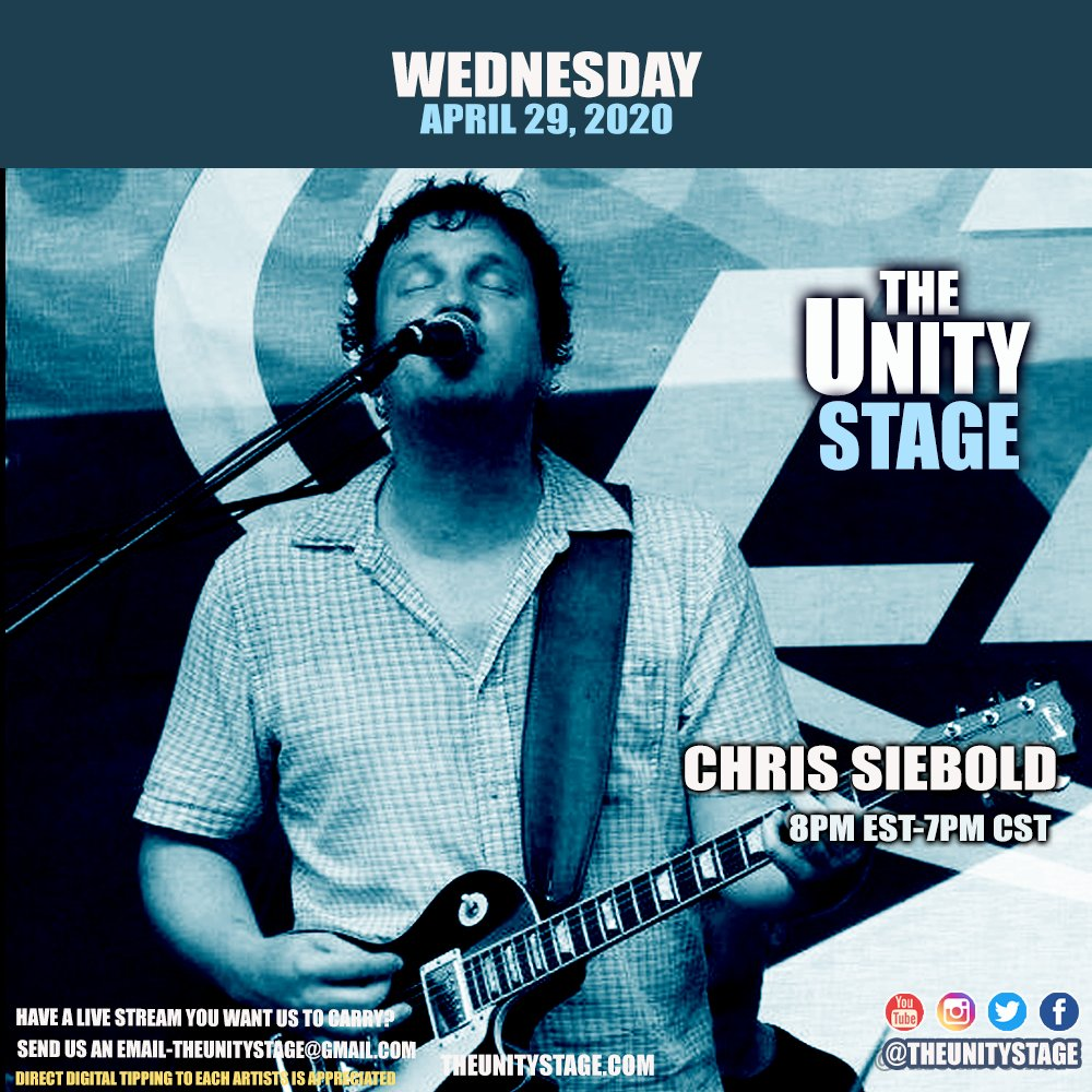 Tonight,  @unclesiebs  live from the range and streaming to #TheUnityStage - 7pm Central - https://t.co/TRUc25jgXw  #LiveStreaming #StayHomeBands  #LiveMusic https://t.co/rweWsgNGxe