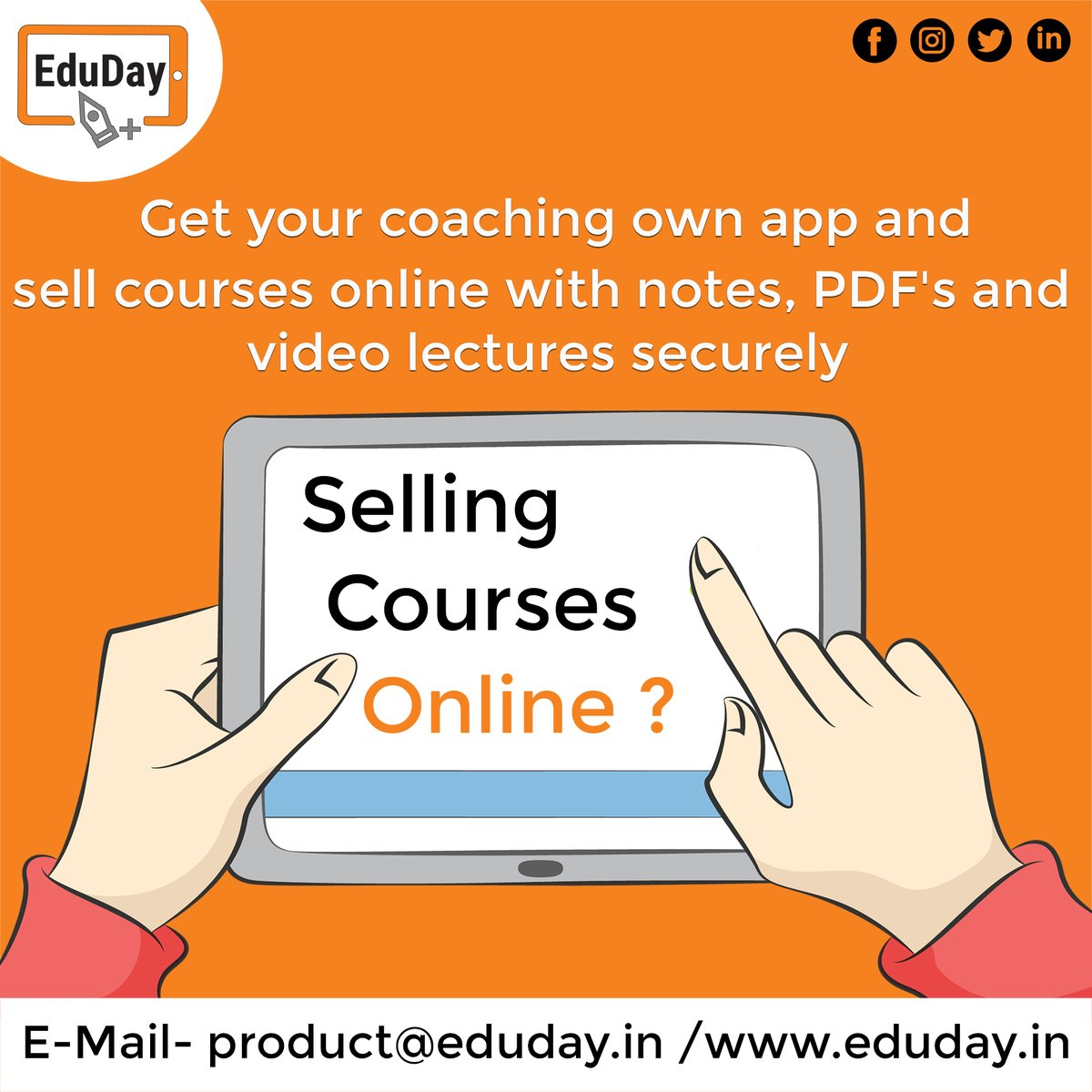 Transform Teaching, Inspire Learning and Deliver a world-class Student Experience.  Get in touch to know more:- Phone : +91 7447712085 E-Mail: product@eduday.in visit:- http://www.eduday.in  #eduday #edudayindia #pune #india #tab #tablets #CoachingInstitute #Coachingclassesspic.twitter.com/XBXW8cDtJQ
