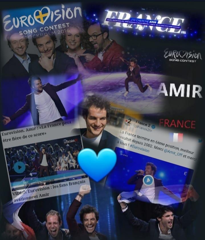 #Eurovision2016 #14Mai2016 #4Ans #6èmePlace  Tellement fière @Amir_Off pic.twitter.com/VbeLmaFq5e
