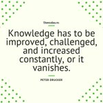 "Image for the Tweet beginning: ""Knowledge has to be improved,"