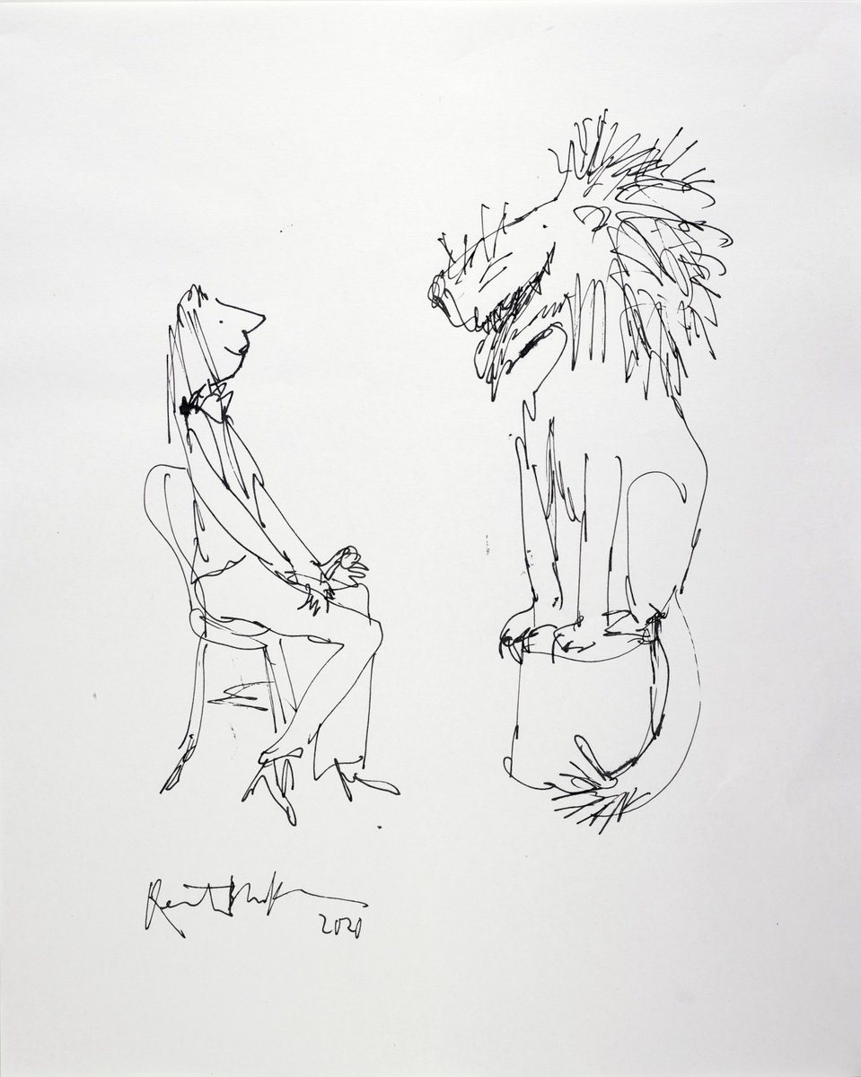 The #BeyondWorlds: Fine Books & Manuscripts online auction is open for bidding until 4 June, featuring Imaginary Friends by #SirQuentinBlake, sold to benefit @comicrelief bit.ly/2LtzgGs
