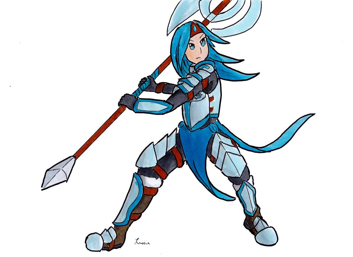 #EnfantsDeLaRose Luxia est prête pour la bataille! L'êtes vous ?  #armoredgirl #characterdesign #originalCharacter #oc #axe #armor #heavyarmor #metalarmor #metal #blue #bluehair #bluehairedgirl #strong #knight #fantasy #medieval #manga https://t.co/BcGP24kIpm https://t.co/S0UDiExWR1
