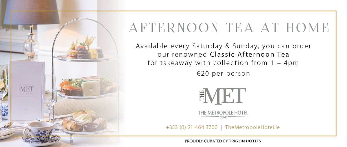 EXCITING NEWS 😍😍 We have just launched our new #TakeHome Afternoon Tea Service! Call & Collect available Saturday and Sunday. Please make your order the day before.  Order Here: https://t.co/7ByJf2jARR #cork #corklike @yaycork @The_VQ_Cork #corkfood https://t.co/74OKbxqhja