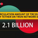 Image for the Tweet beginning: The circulation amount of #TRC20-#USDT