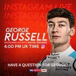 Geooooooooooorge  @RachelBrookesTV will be going live with @GeorgeRussell63 on our Instagram at 4:00 PM 📲⏰  Have a question for the @WilliamsRacing man?  #SkyF1 | #F1